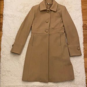 J.Crew Wool Lady Coat in light tan size 6